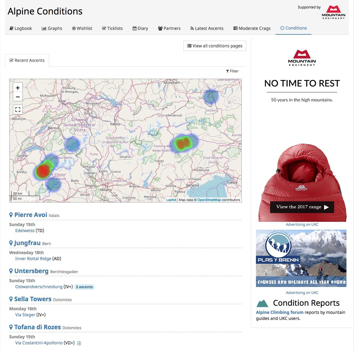 Alpine Conditions Page, 217 kb