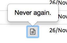 Never again., 31 kb