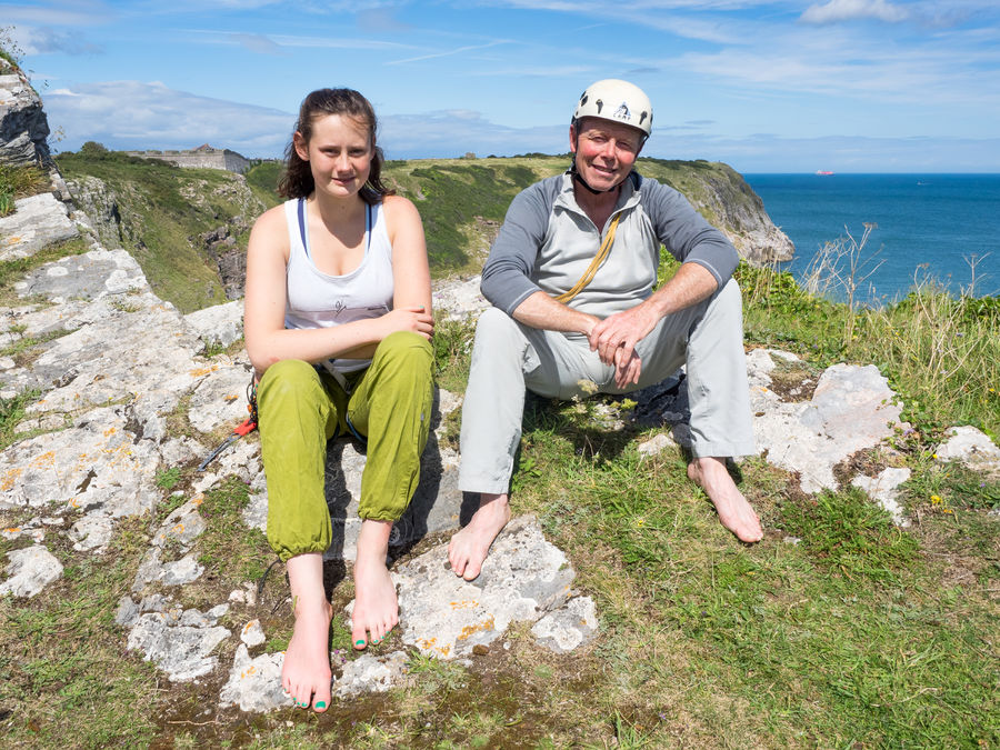 Anna Biven and Pat Littlejohn on top of The Old Redoubt., 203 kb