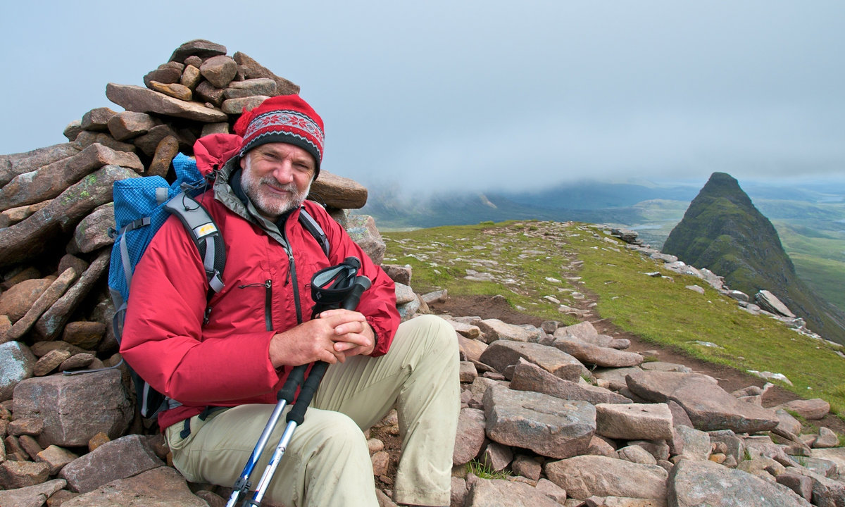 Cameron on Suilven at the start of the Sutherland Trail © UKC Articles