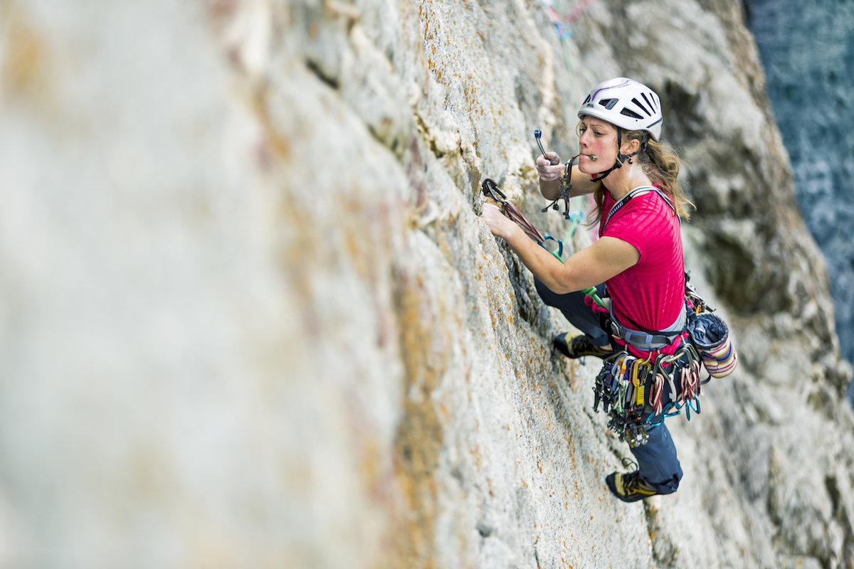 The author fully focused and managing the fear! © UKC Articles