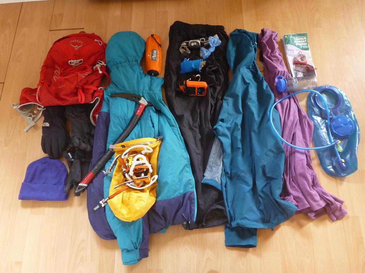 Kit for Helen\'s winter Tranter round © UKC News