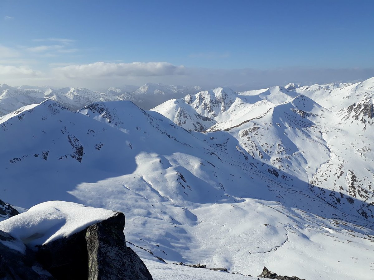 In the eastern Mamores, looking back west along the range © UKC News