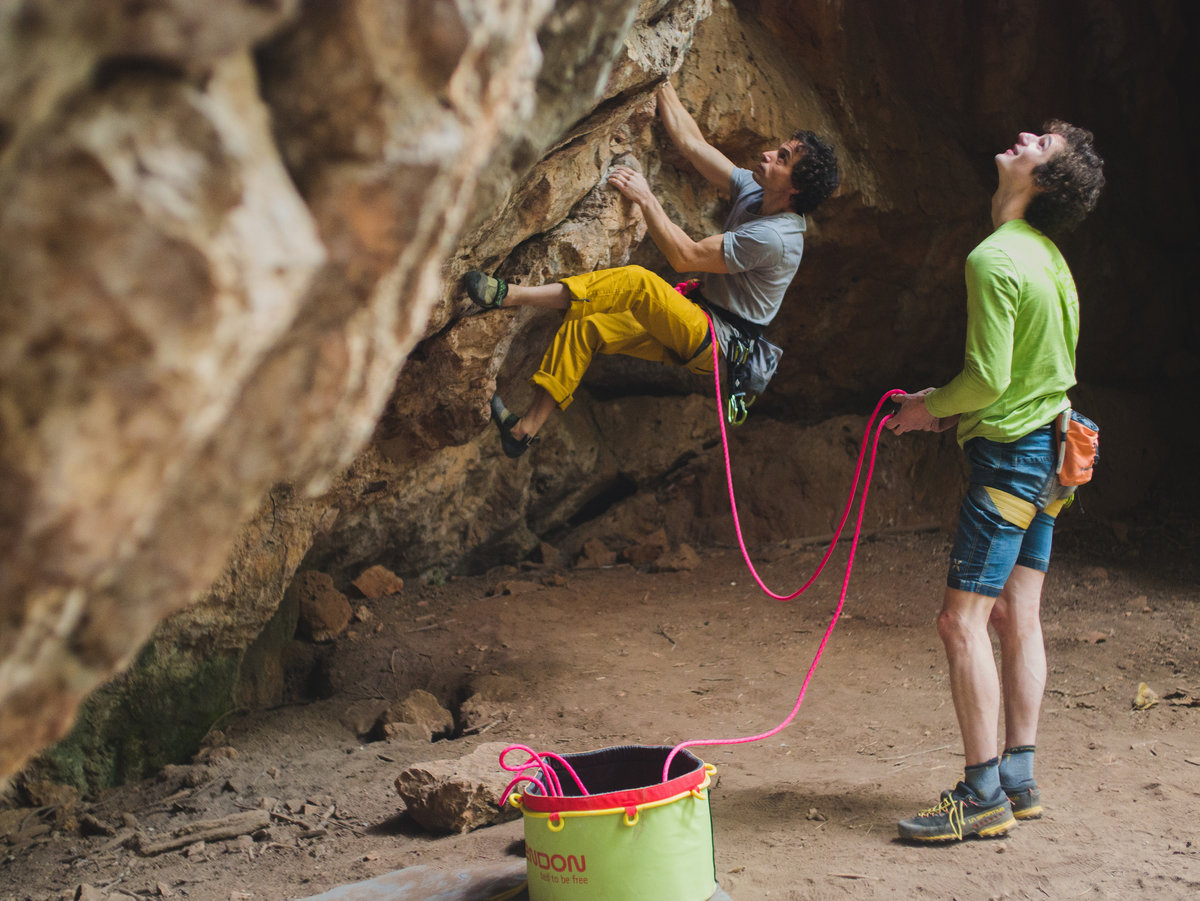 Ofer and Adam warming up. © UKC Articles