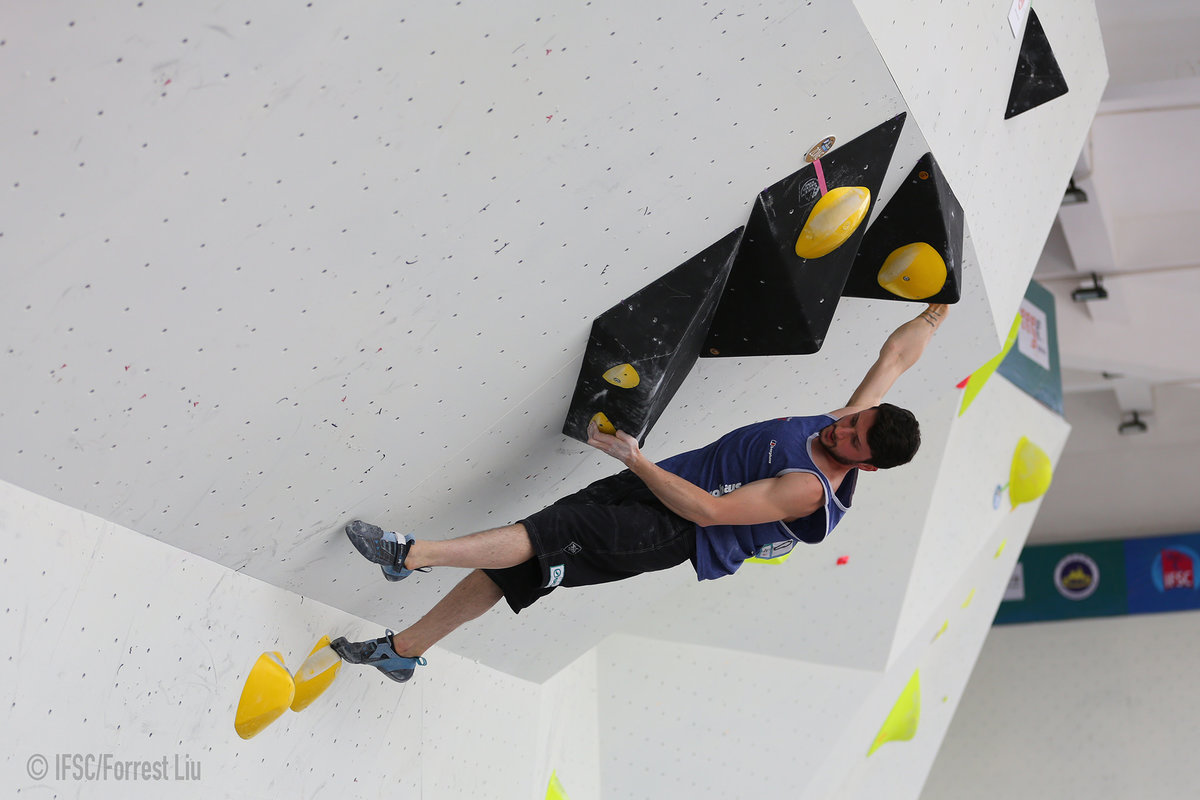 Nathan Phillips on form in Chongqing. © UKC News