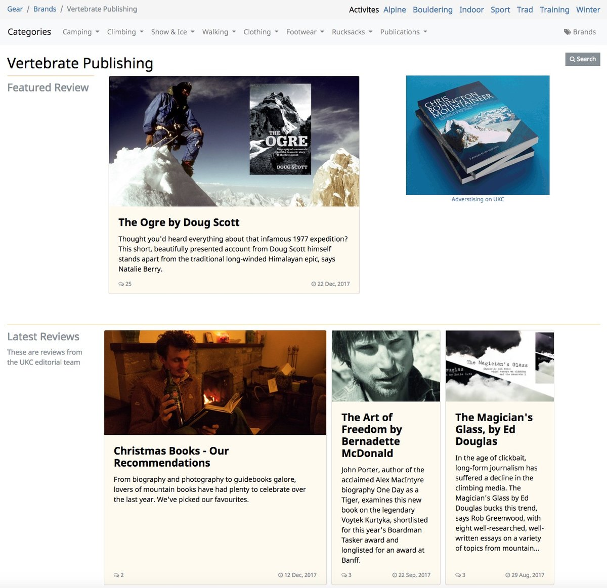 Vertebrate Publishing Brand Page © UKC News