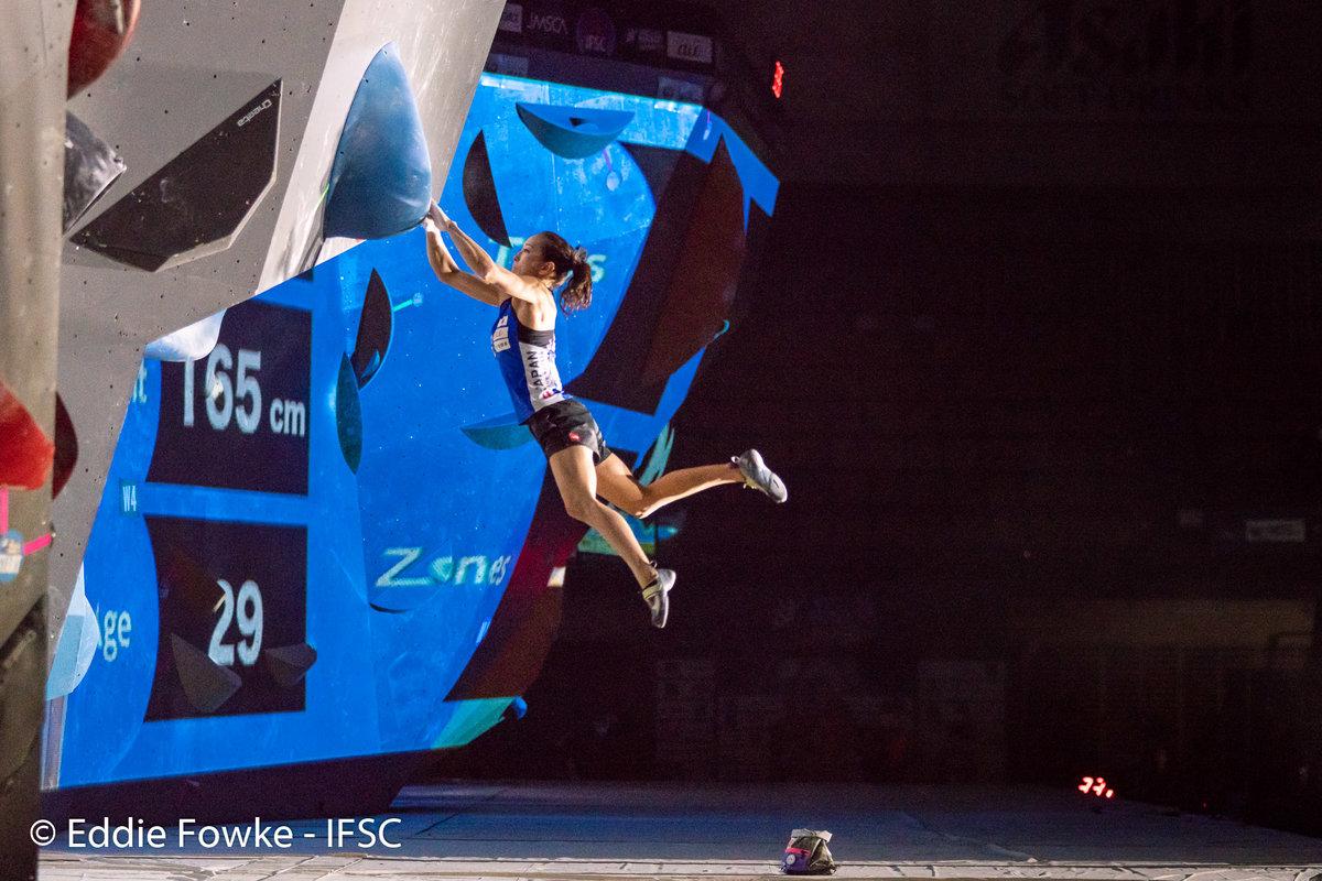 Akiyo Noguchi competing in Hachioji. © UKC News