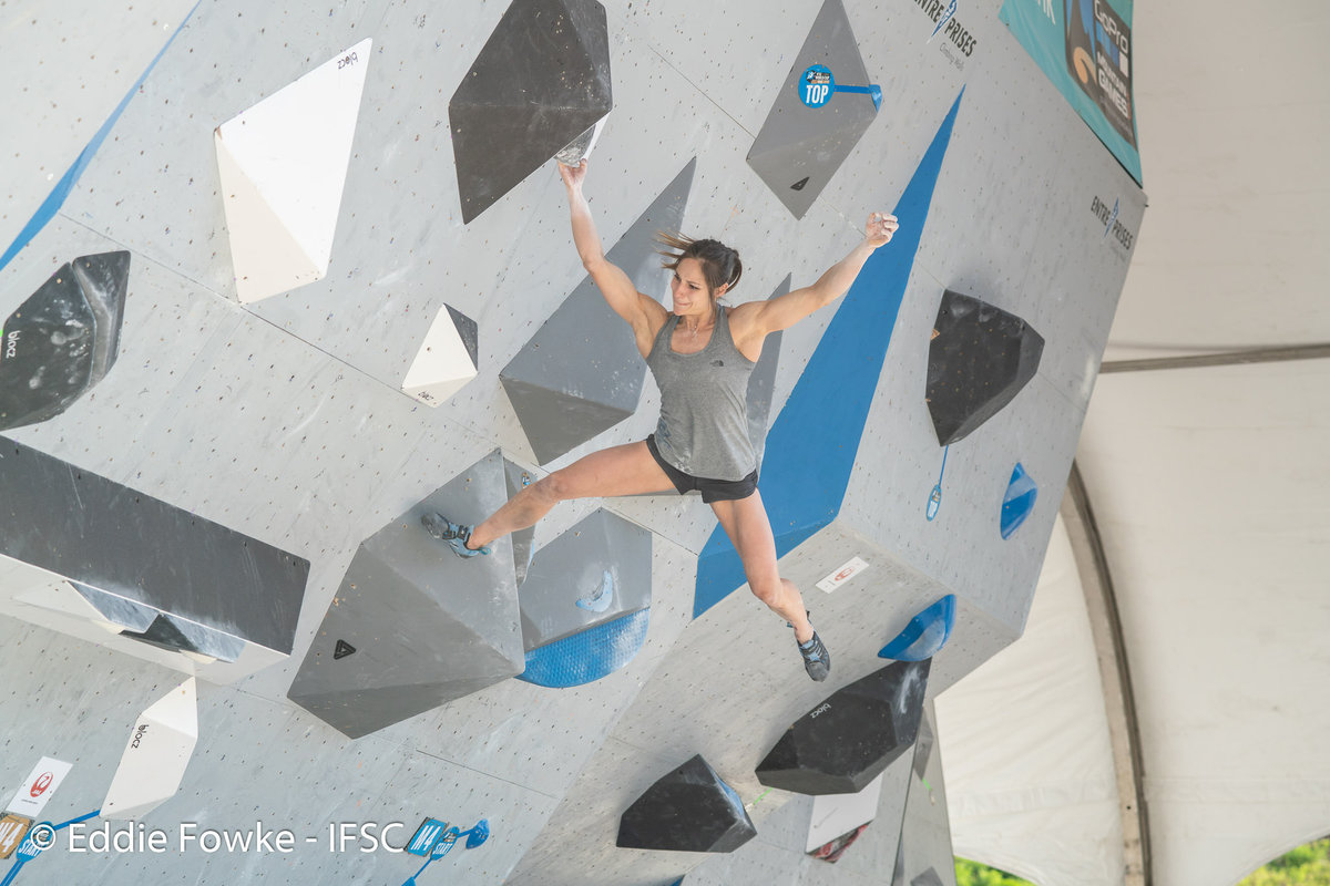 Alex Puccio on form in Vail. © UKC News