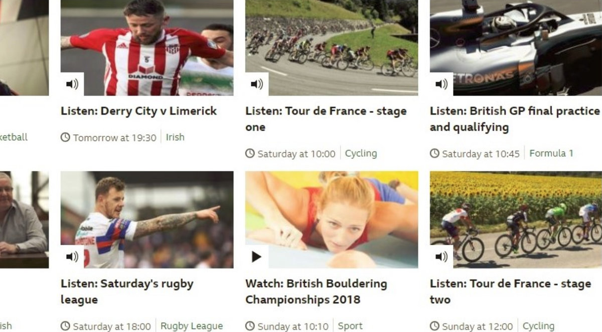 BBC Sport livestreaming of the BBCs 2018. © UKC News