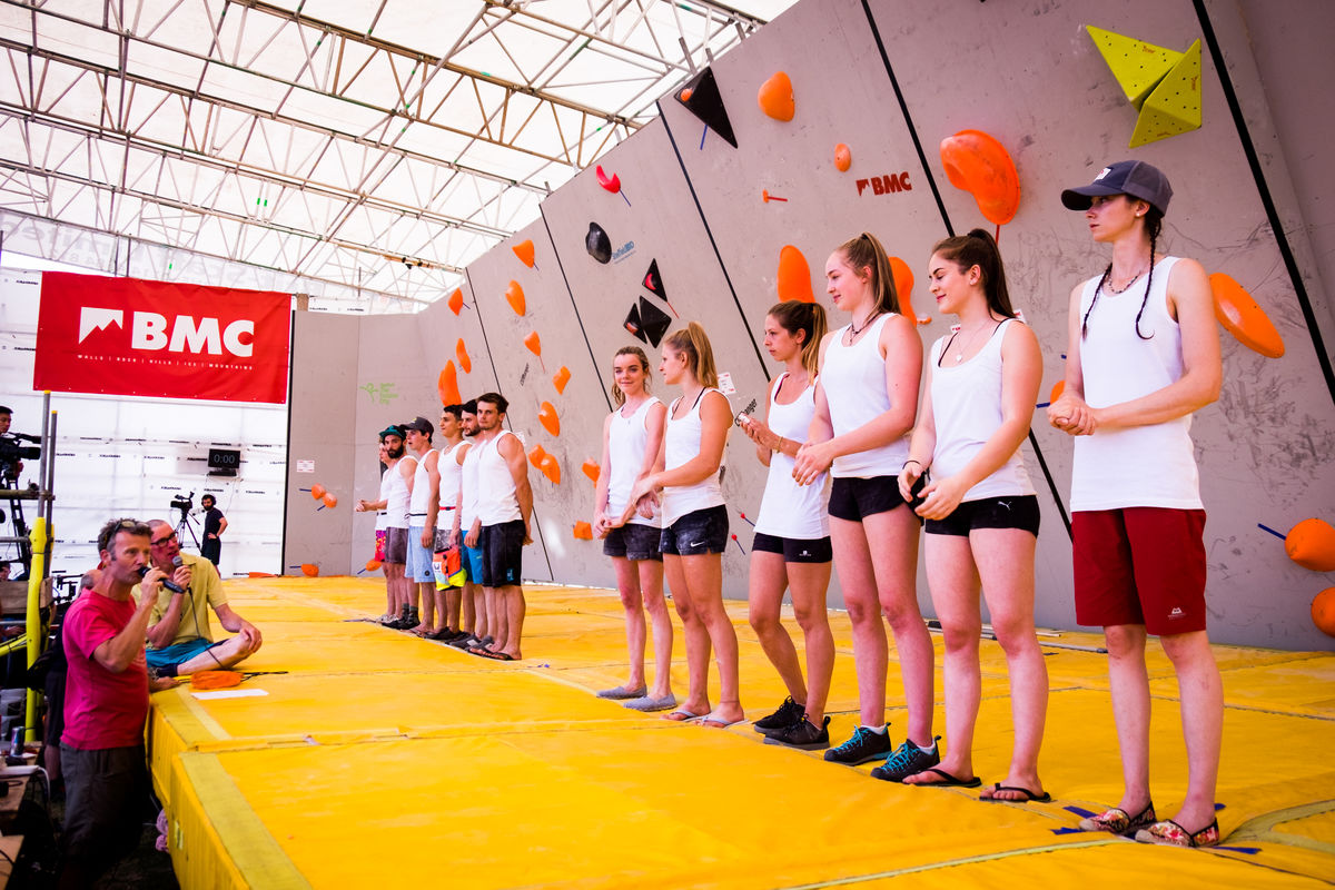 The athlete presentation ahead of the finals. © UKC News