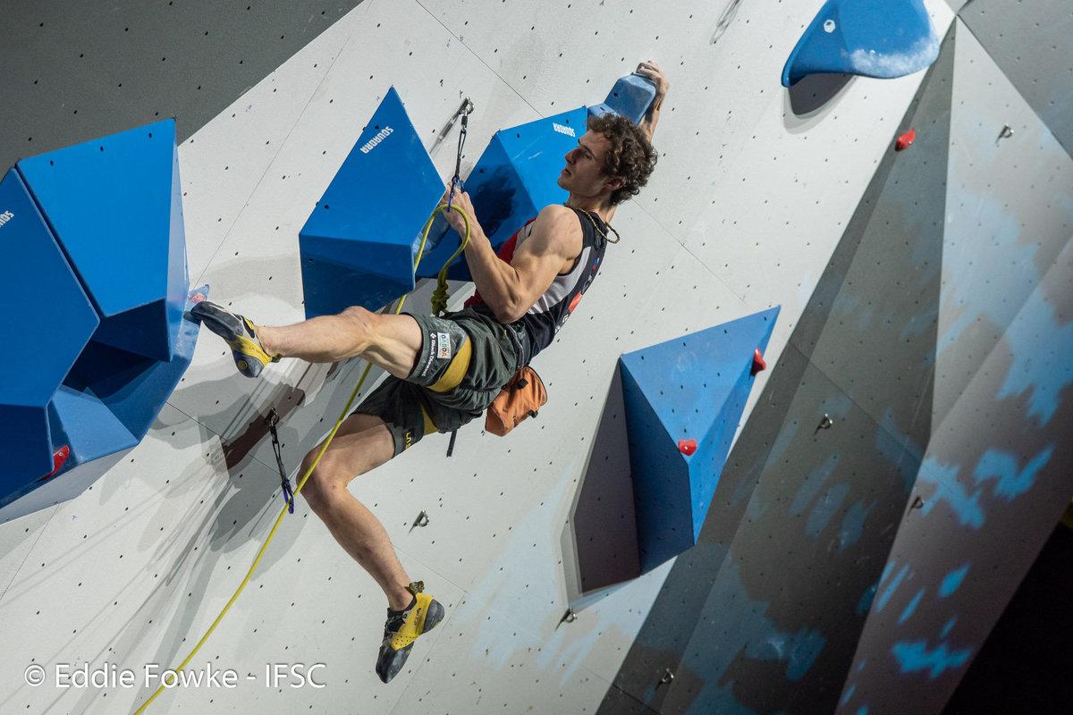 Adam Ondra on his way to 2nd place. © UKC News