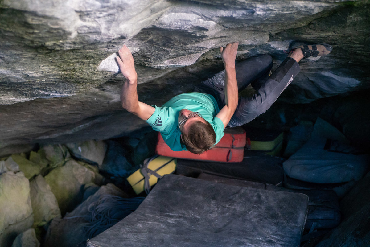 Will Bosi ticking Practice of the Wild 8C. © UKC News