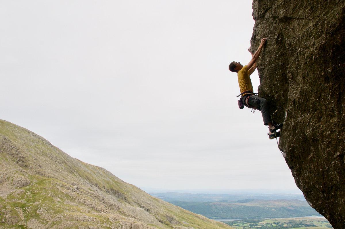 Craig on Prowess, Dow Crag. © UKC News
