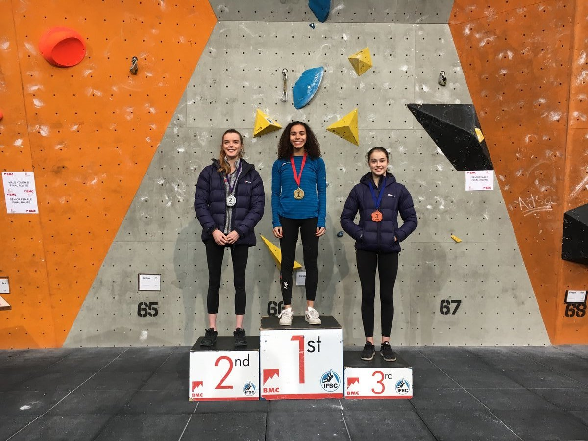 Senior Female Lead podium. © UKC News