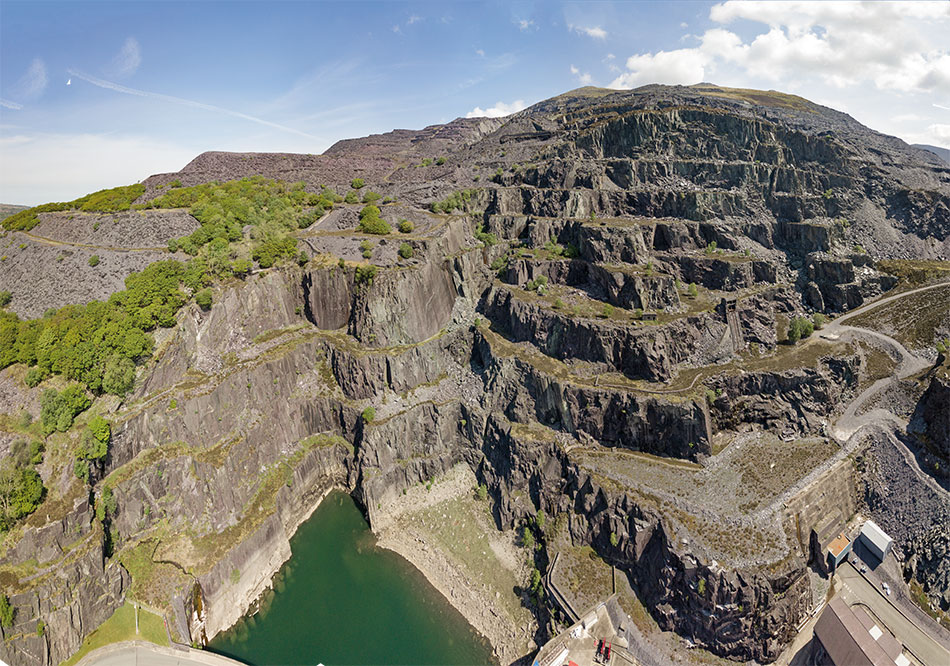 The Rainbow Area of the Dinorwig Slate Quarries. © UKC News