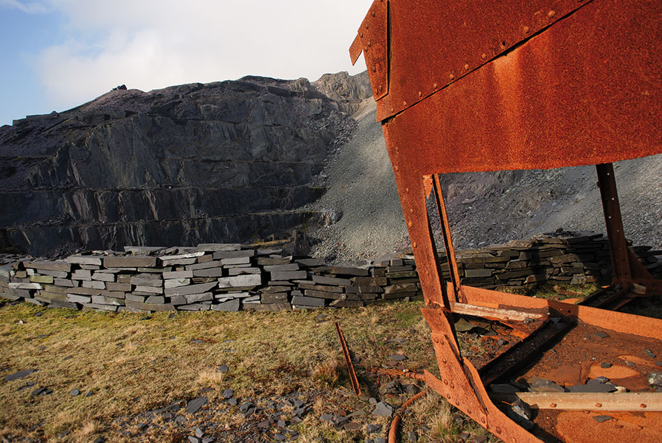 Industrial remains in the Dinorwig Slate Quarries. © UKC News
