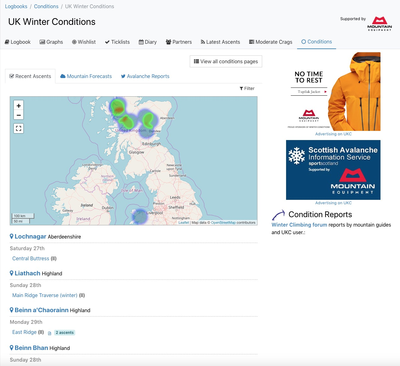 Winter Conditions Page © UKC News