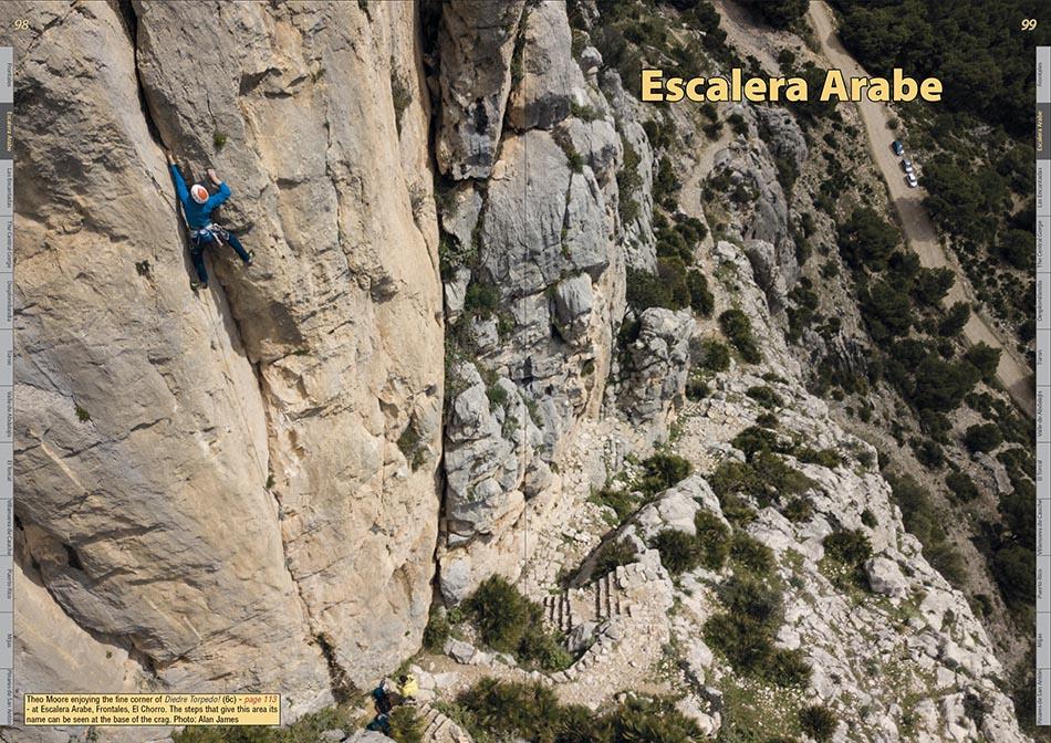 Spain : El Chorro Rockfax example page 3 © Rockfax