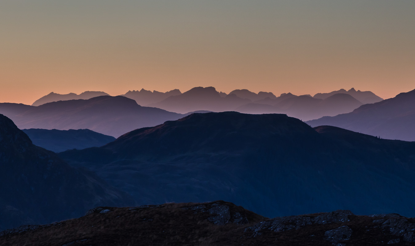 Winter light on the distant Cuillins from Kintail © Garry Robertson