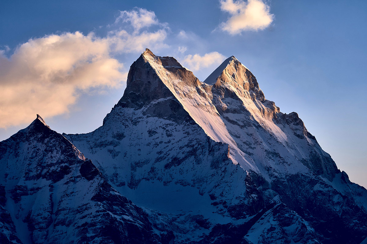 Shivling south face at sunrise © Hamish Frost