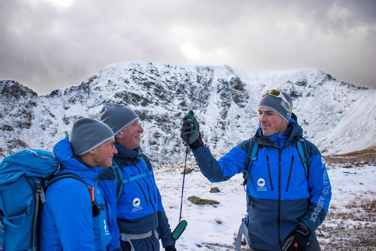 Fell Top Assessors Jon Bennett, Graham Uney and Zac Poulton © UKC News