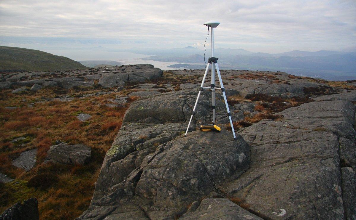 The survey equipment at the summit of Foel Penolau © UKC News
