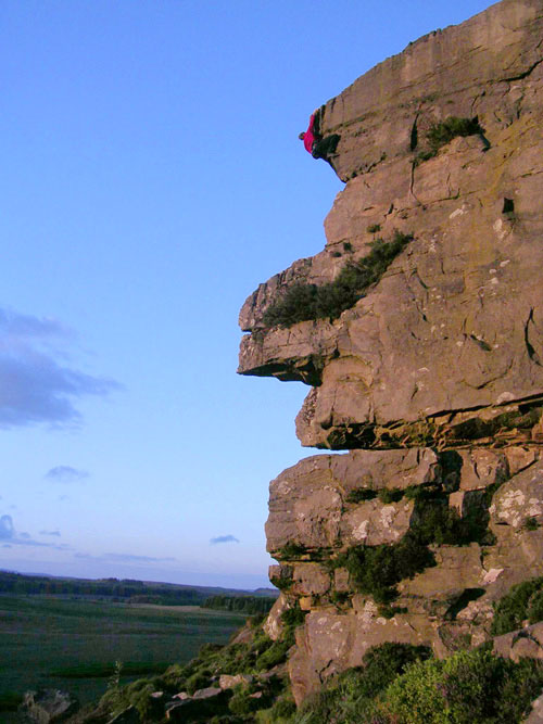 Doctor Al soloing Pharoah's Face at Great Wanney, 74 kb