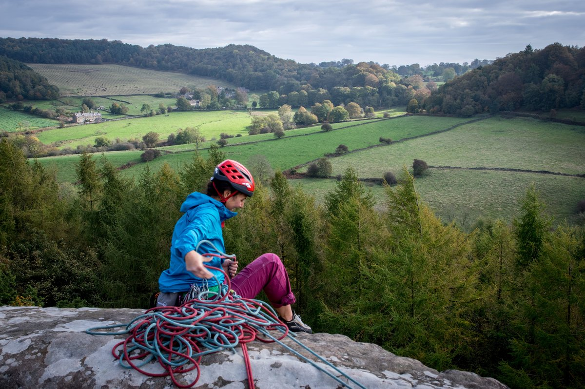 The Interstellar is a useful windproof layer for the top of the crag © UKC Gear