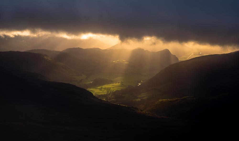 Cadair Idris. A splash of sunshine at long last. © Myfyr Tomos