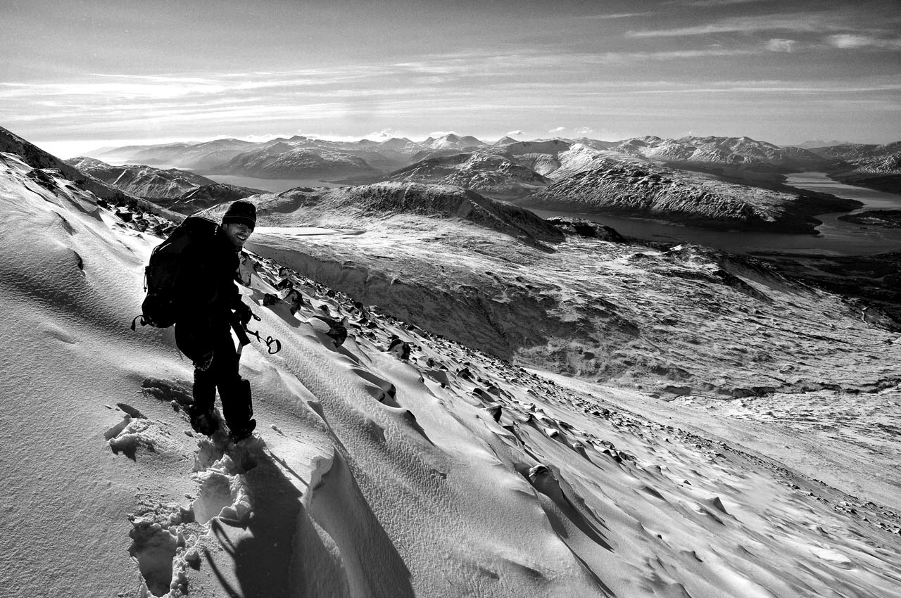 Looking west when descending from the CMD Arete © Sean Kelly