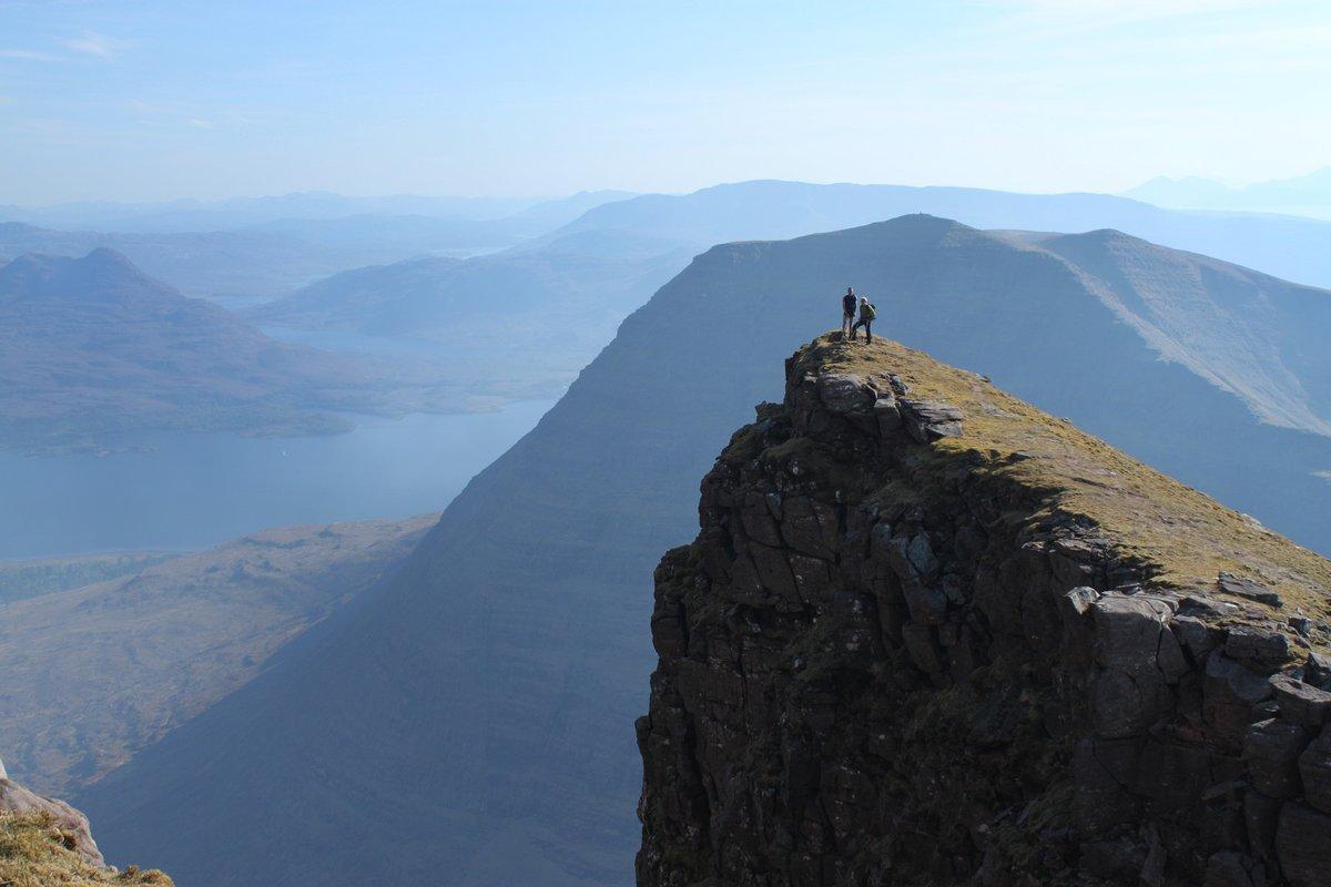 Sgurr na Tuaigh (axe peak) below the summit of Sgurr Mor (great peak) © UKC Articles