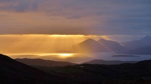 [The Red Cuillin from Applecross © Robert Durran]