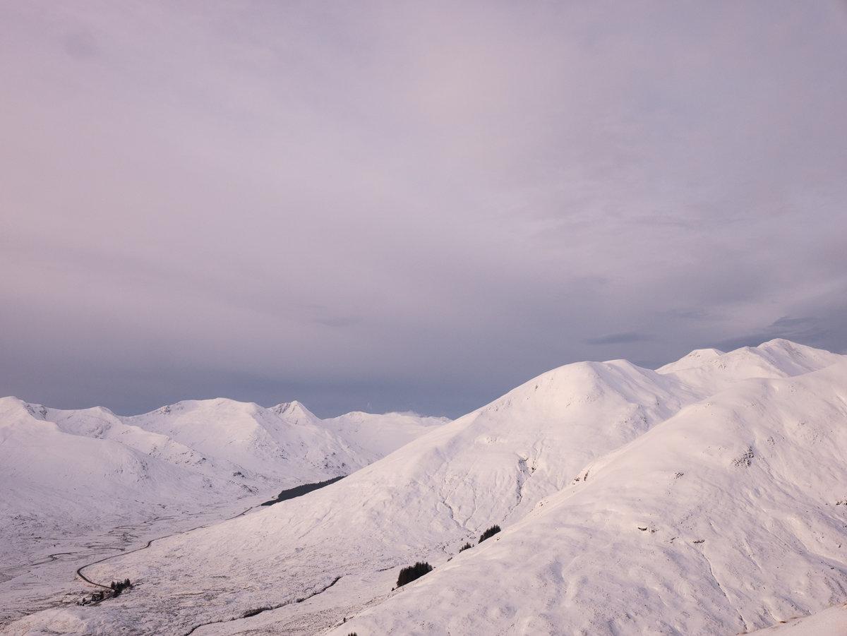 Glen Shiel hills in late morning light © PPP