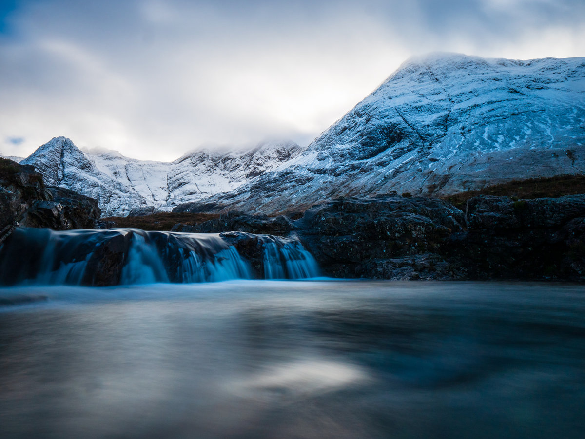 Fairy Pools with the Cuillins in the background © PPP
