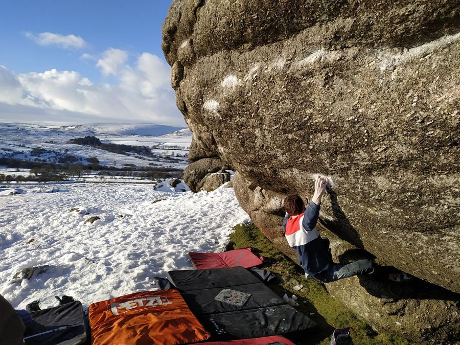 UKC News - NEWS: New Dartmoor Boulder Problems for James Squire