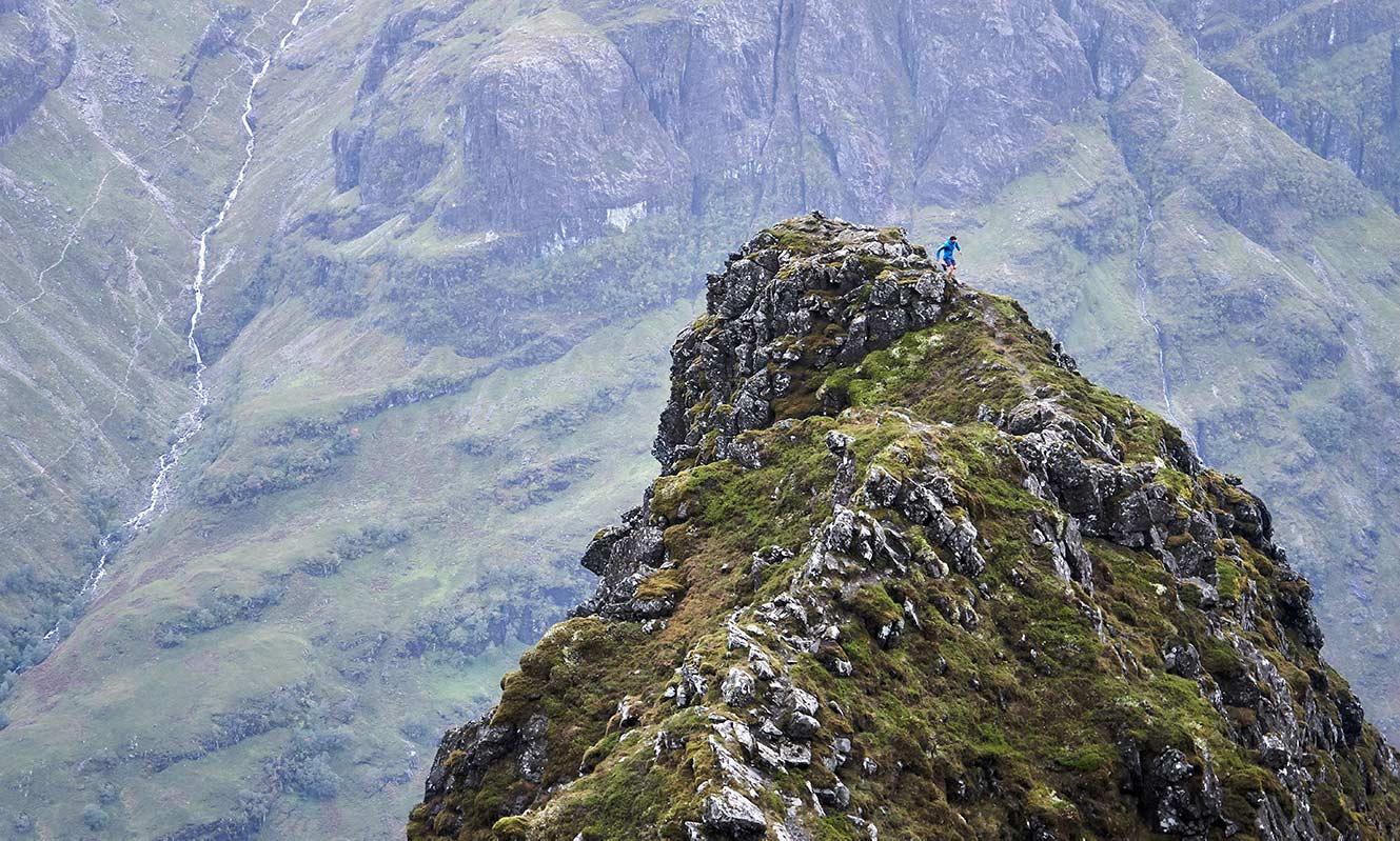 Technical ridge running in the dramatic surroundings of Glencoe © Hamish Frost