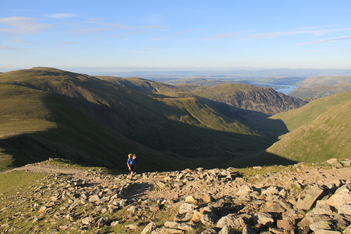 Ullswater and the distant North Pennines from the ascent of Lower Man © Dan Bailey - UKHillwalking.com
