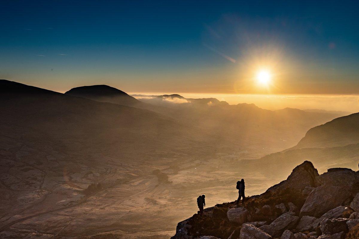 Tryfan North Ridge, early start leaving a spring time frosty Ogwen  valley  © jethro kiernan