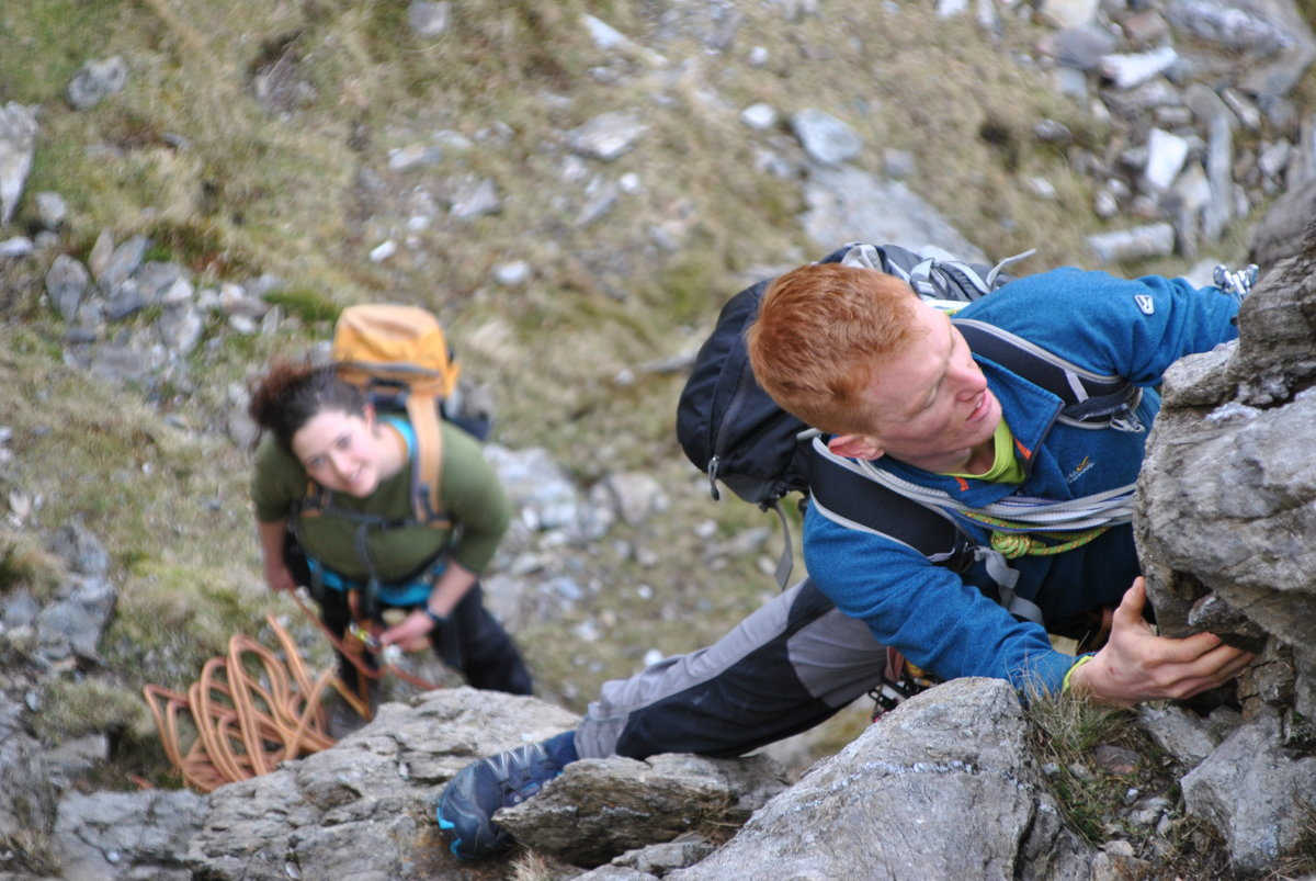 Ben and Eve on the East Rib of Y Garn © steve.mullan