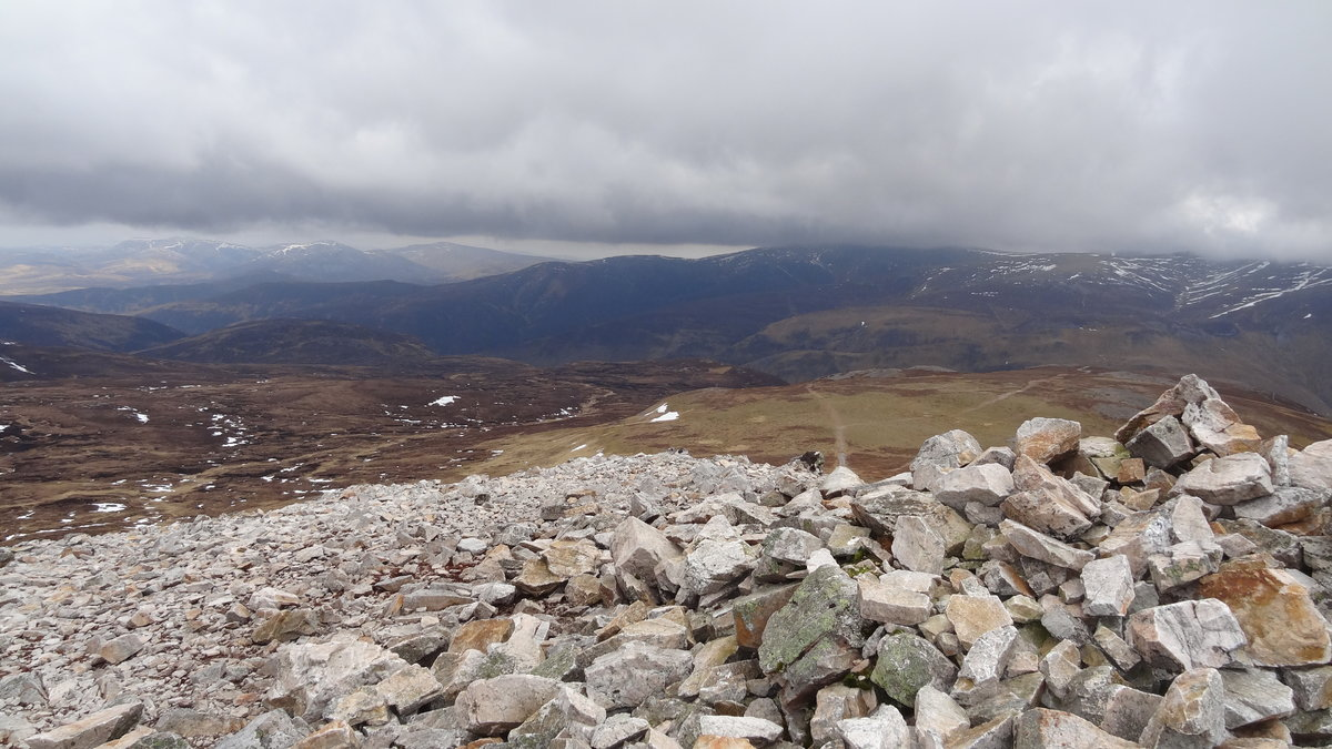 Summit views towards Spittal of Glenshee hills and Beinn A'Ghlo © soularch