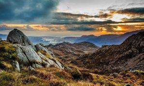 [Glaslyn Estuary and Porthmadog from Yr Arddu. © Myfyr Tomos]