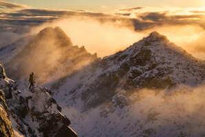 [Sunrise on Sgùrr Alasdair © Hamish Frost]