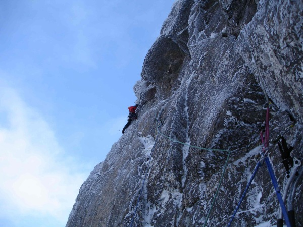 First ascent of Hydroponicum (VIII 8), Beinn Eighe, 101 kb