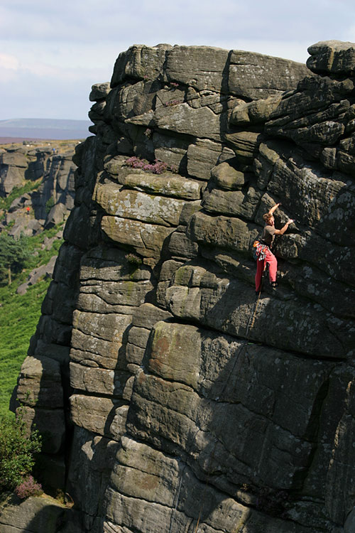 Hargreaves' Original Route, VS 4c, Stanage, 119 kb