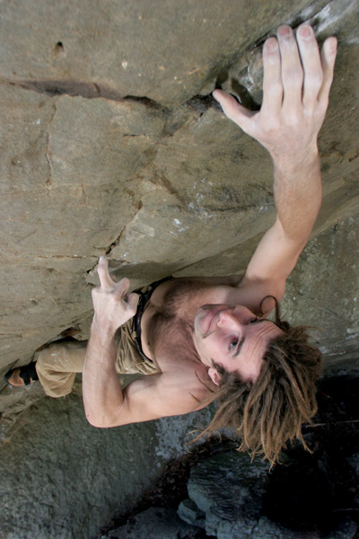 Chris Sharma, Forbidden Fruit, Arkansas, 95 kb