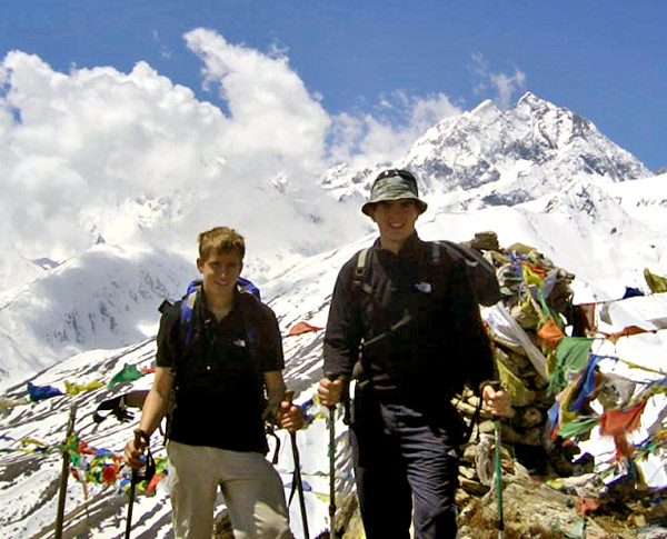 Rob and James acclimatising at 4400m, 108 kb