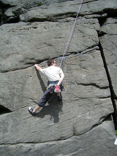 Me looking very relaxed on a climb, 81 kb
