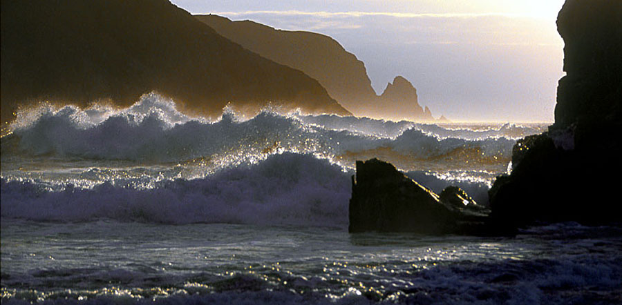 Evening surf at Kearvaig; June, 89 kb