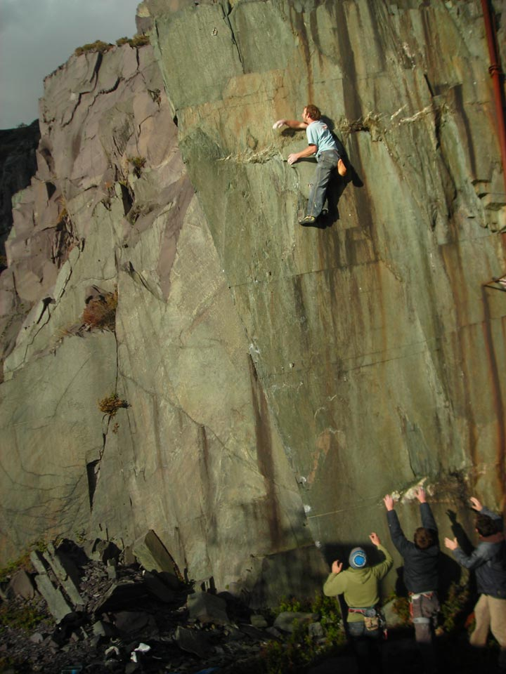 First Solo of Untouchables, Dinorwic Slate, 107 kb