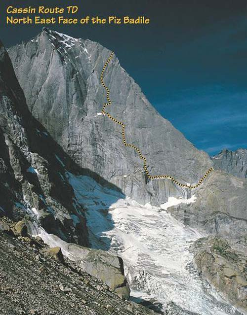 North East Face of the Piz Badile, 62 kb